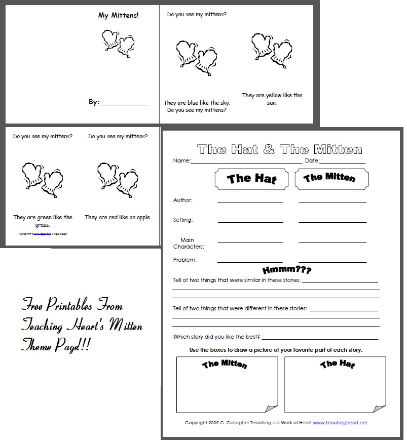Classroom Freebies: Mitten Printables
