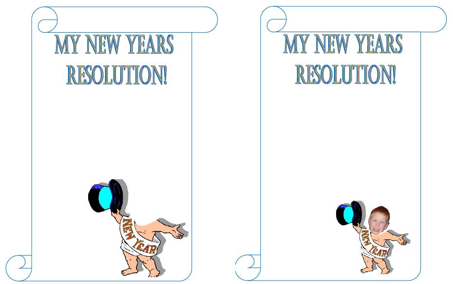 Kindergarten New Year S Resolutions Printable | New Calendar Template ...