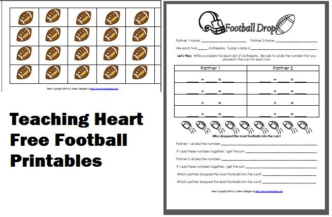 Football Printables - Teaching Heart Blog Teaching Heart Blog