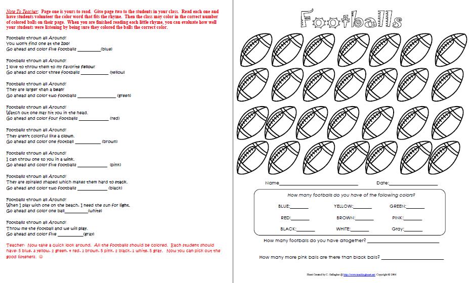 Football Printables - Teaching Heart Blog Teaching Heart Blog Rolling Soccer Ball