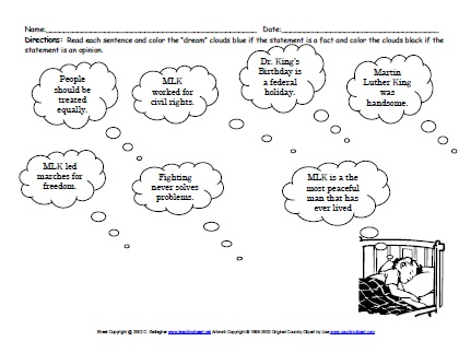 Martin Luther King Day Unit Theme - Lessons Activities Printables ...
