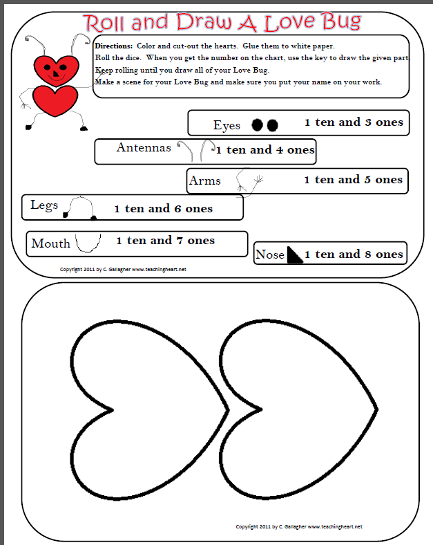2nd Grade tens and ones worksheets 2nd grade : Love Bug Tens and Ones - Teaching Heart Blog Teaching Heart Blog