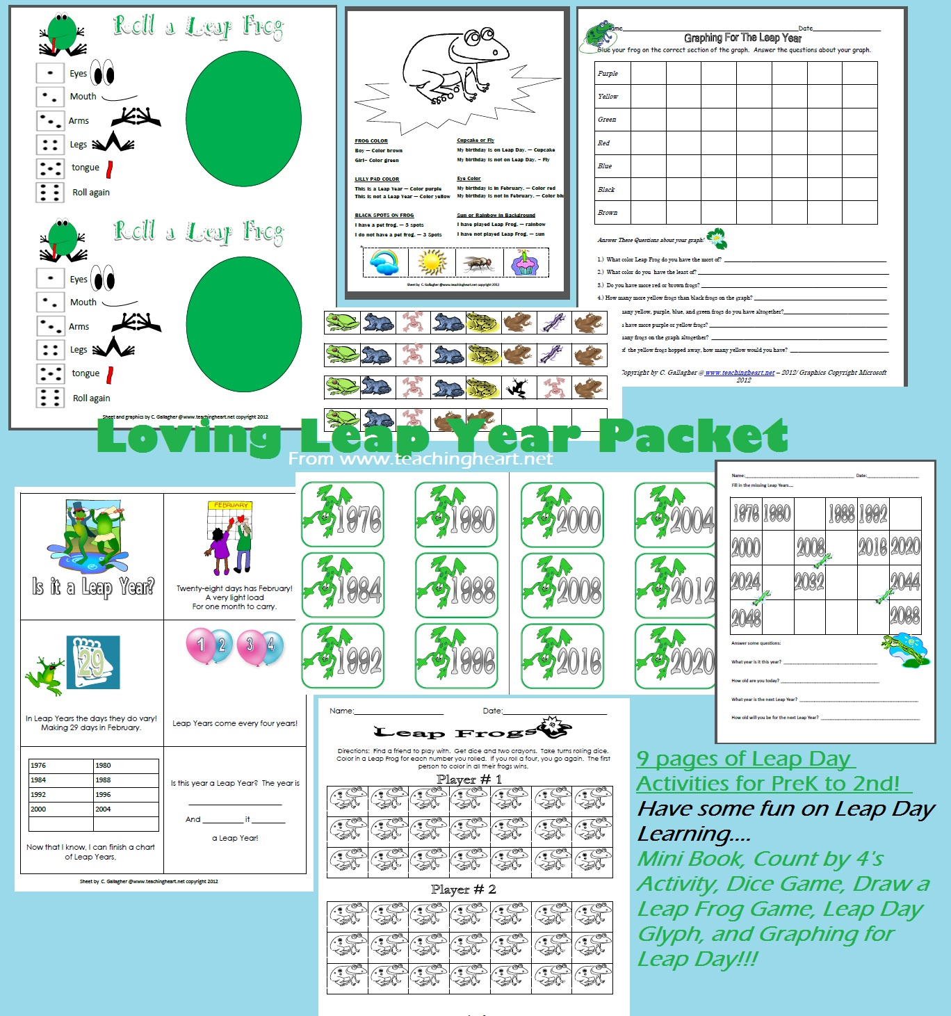 Frog Froggy Unit Theme - lessons printables crafts ideas to match