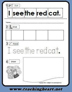 cut & paste sight words sentences pdf