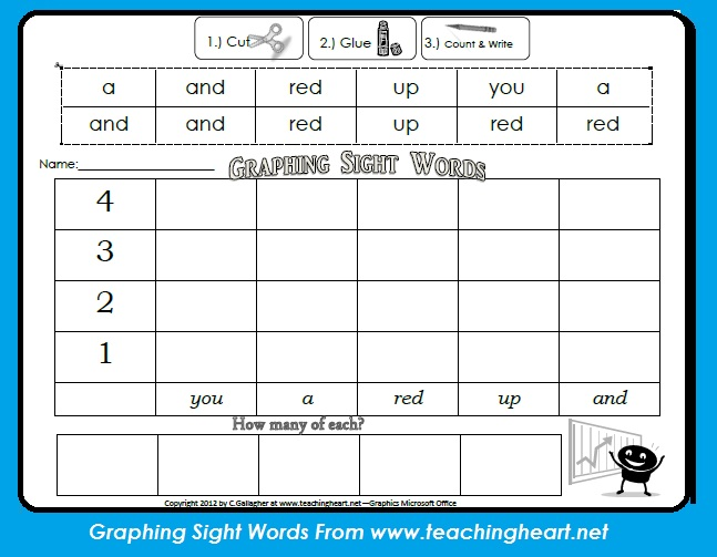 Words k Teaching Blog Blog pre sight Heart Heart Graphing activities Sight  word  Teaching