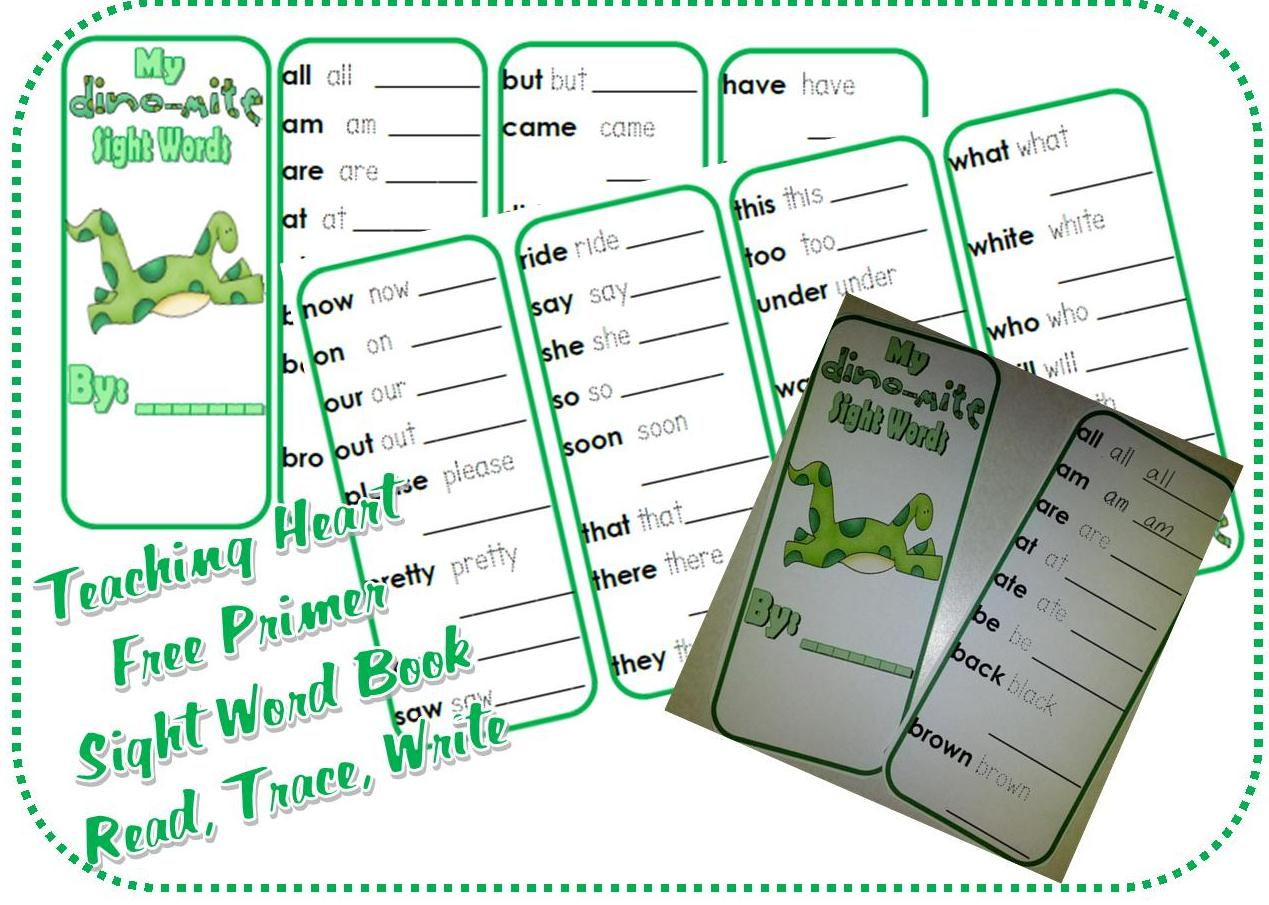 photo regarding Printable Sight Word Books named Primer Dino Sight Term Printable Training Center Web site