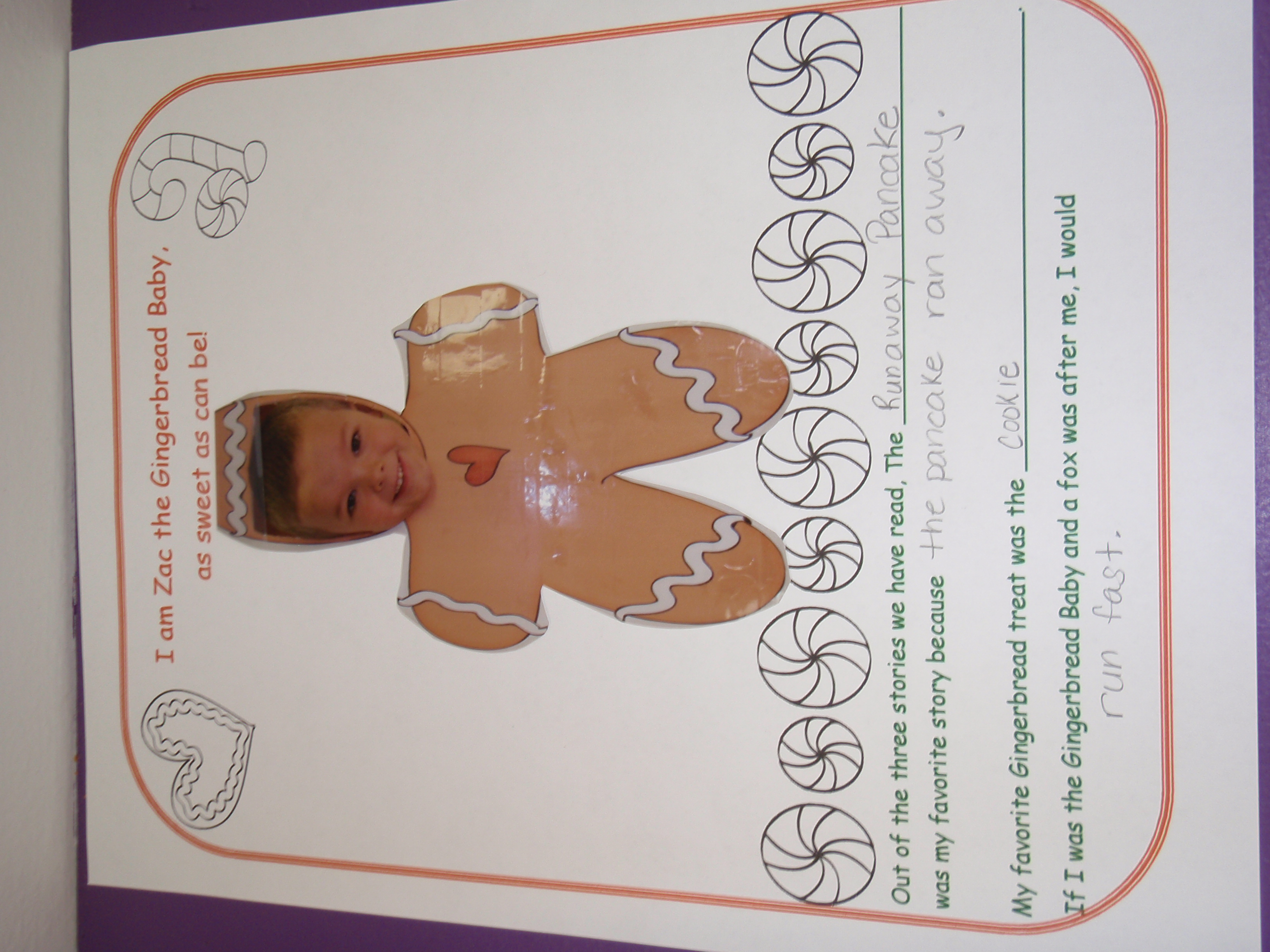 Gingerbread Baby The gingerbread baby and
