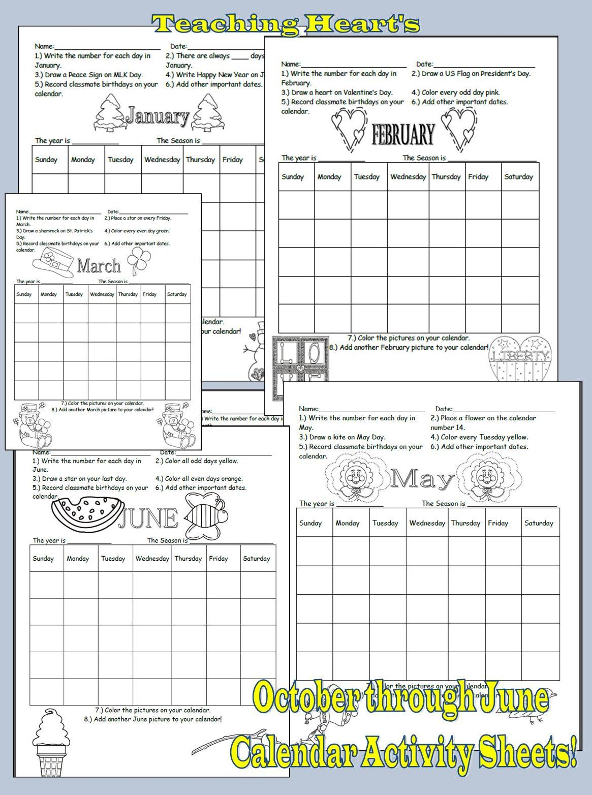 Calendar Activities Printables : Primary calendar ideas pictures and activities