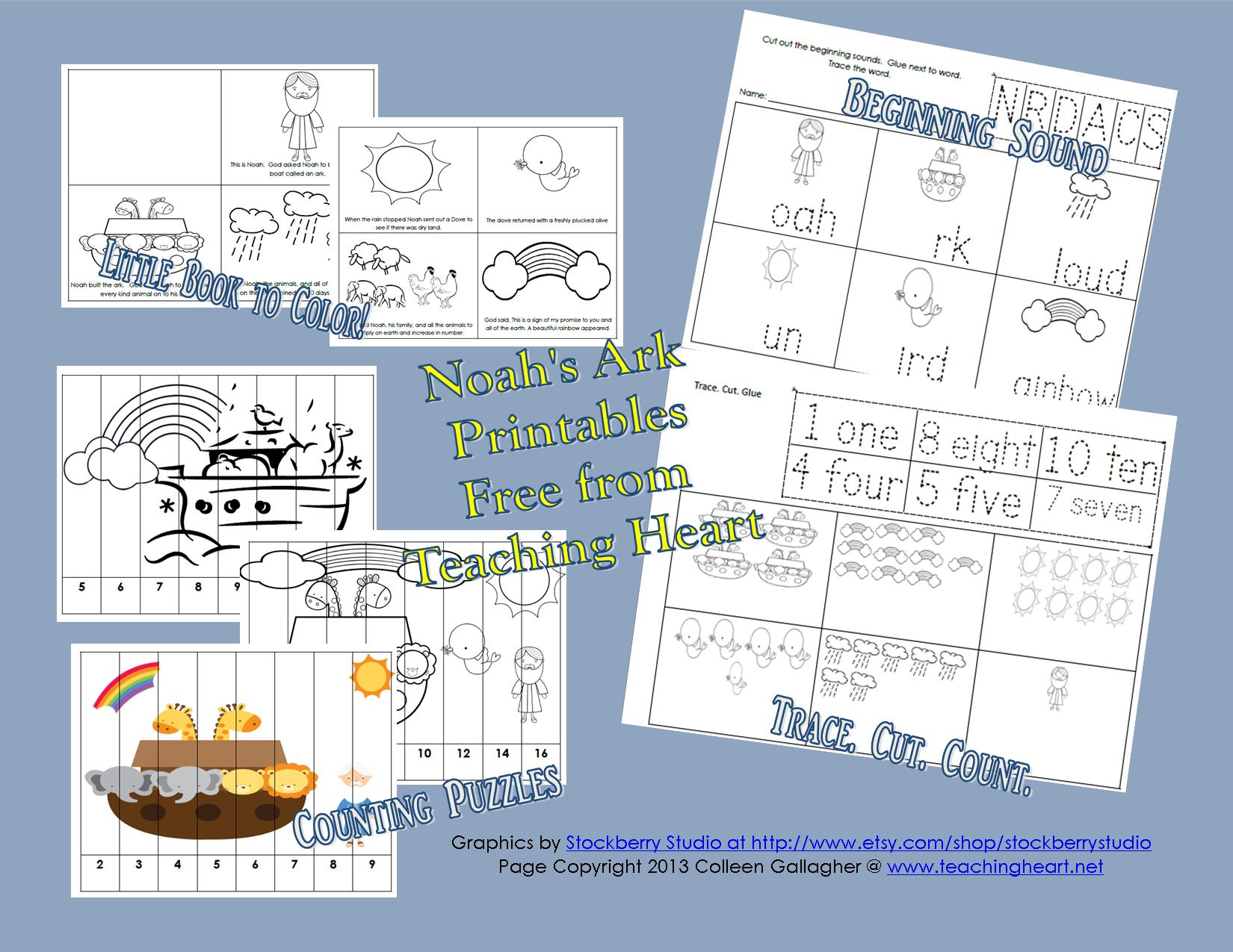 noah u0027s ark printables for preschool teaching heart blog