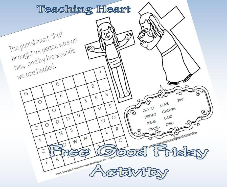 Good Friday Printable Coloring Pages Picture