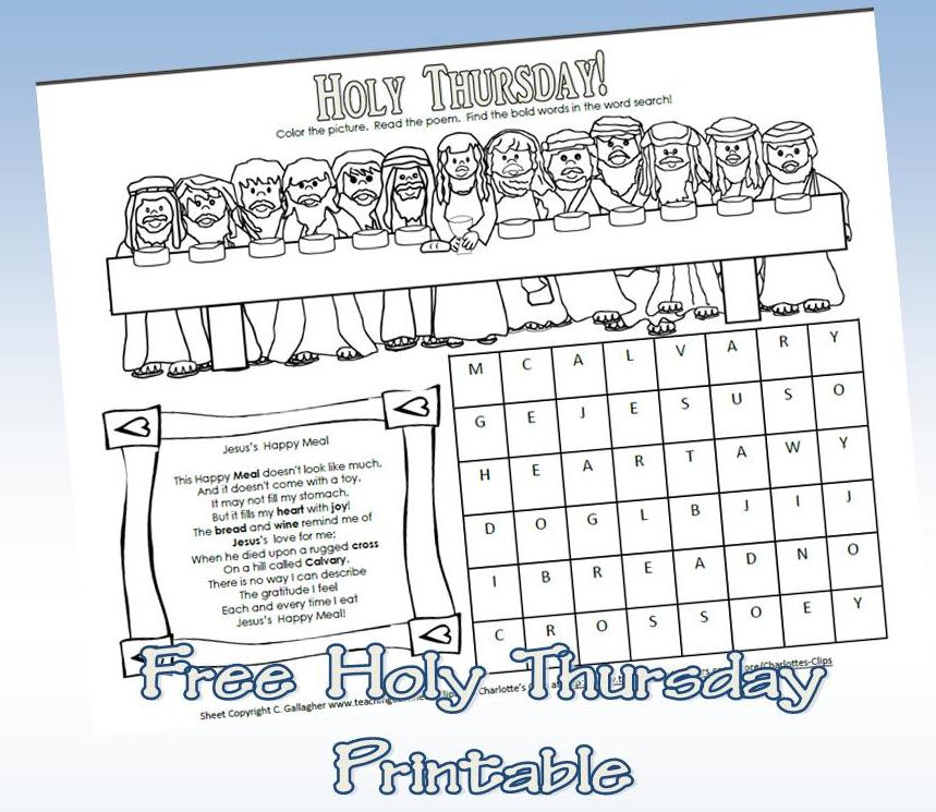 free holy thursday printable teaching heart blog teaching heart blog. Black Bedroom Furniture Sets. Home Design Ideas