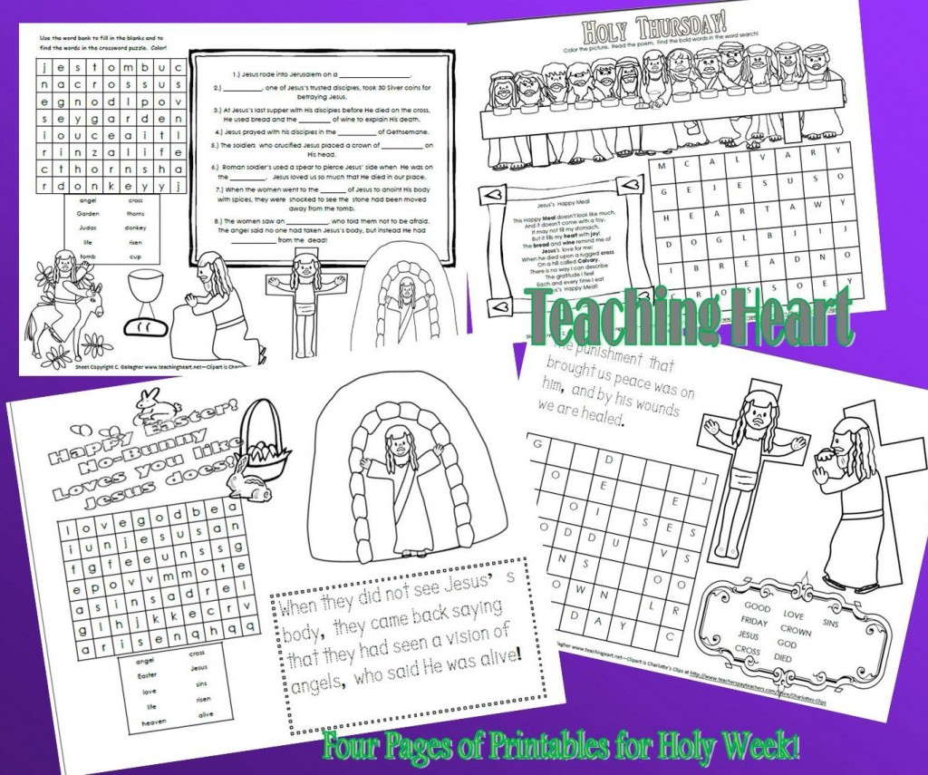It's just an image of Dashing Holy Week Activities Printable