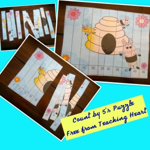 Free Bee Puzzle to Print - Teaching Heart