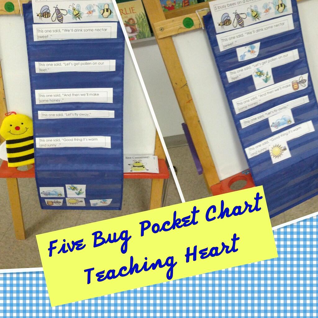 bee packet teaching heart pocket charts
