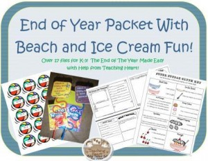 End of The Year Packet From Teaching Heart