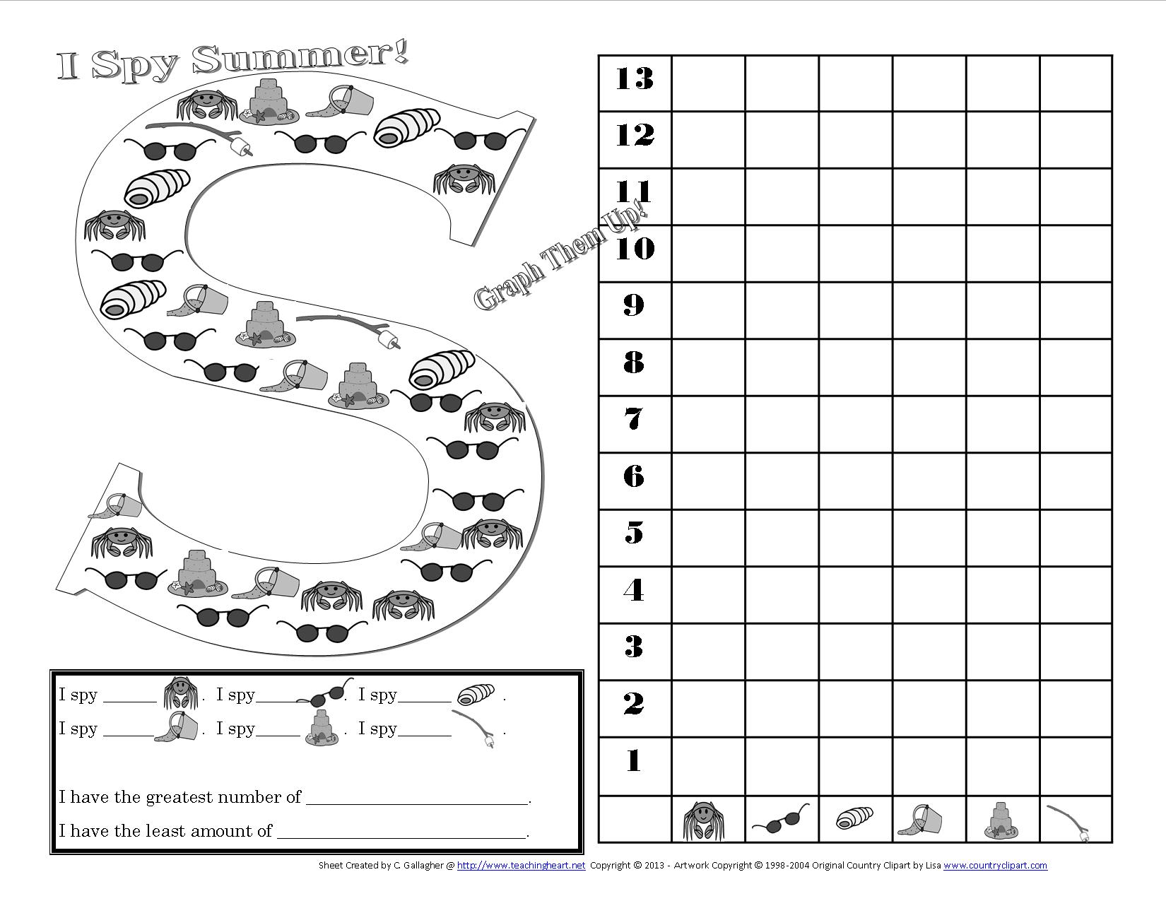 A Beach Unit Beach lessons links ideas and more for the – Graphing Worksheet Kindergarten
