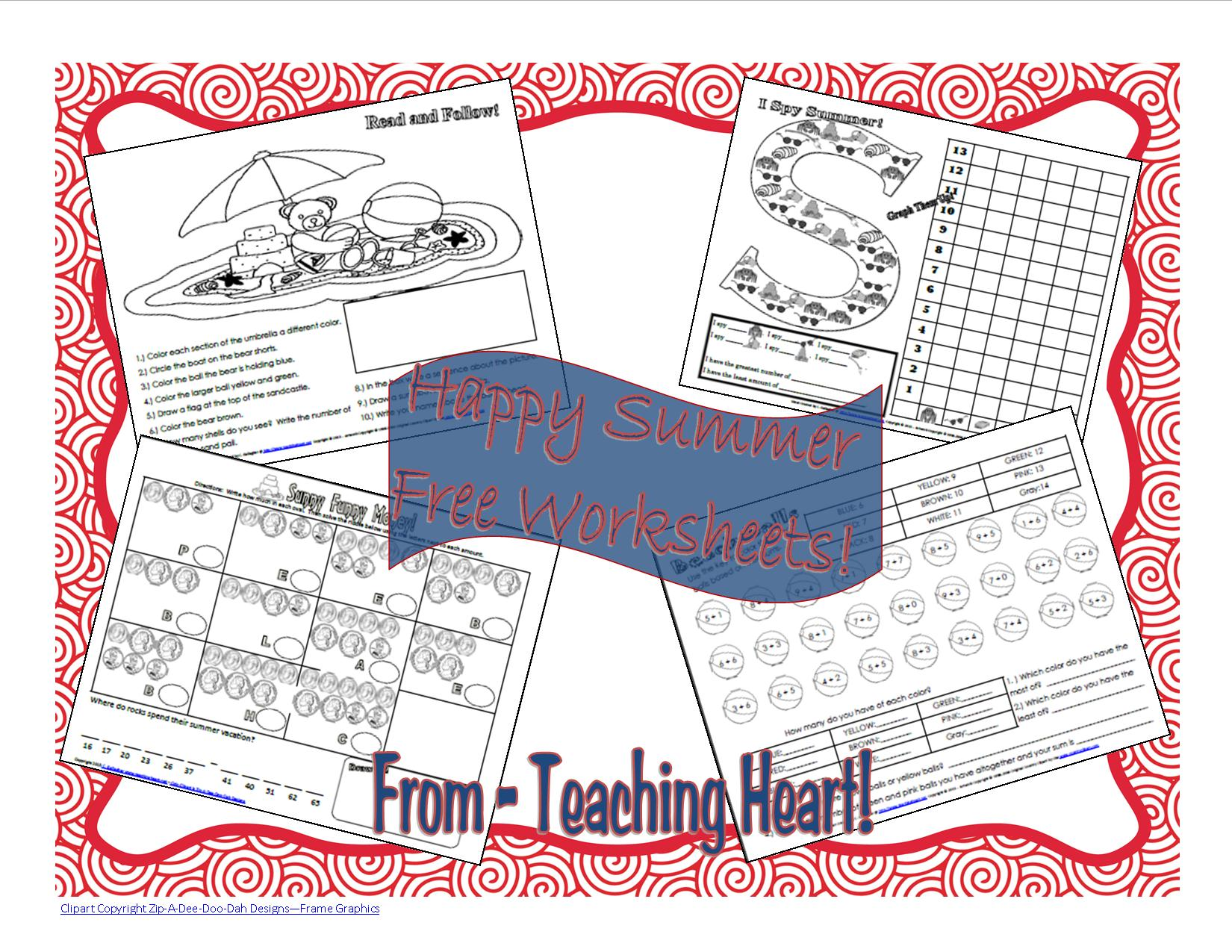 Free Summer Fun Activity Sheets