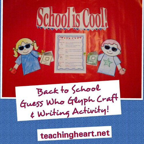 Back to School Glyph and Activities