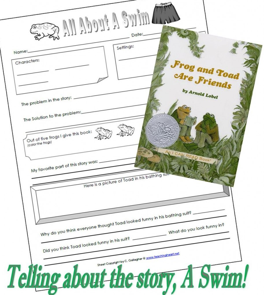 A Swim Frog and Toad Free Printable