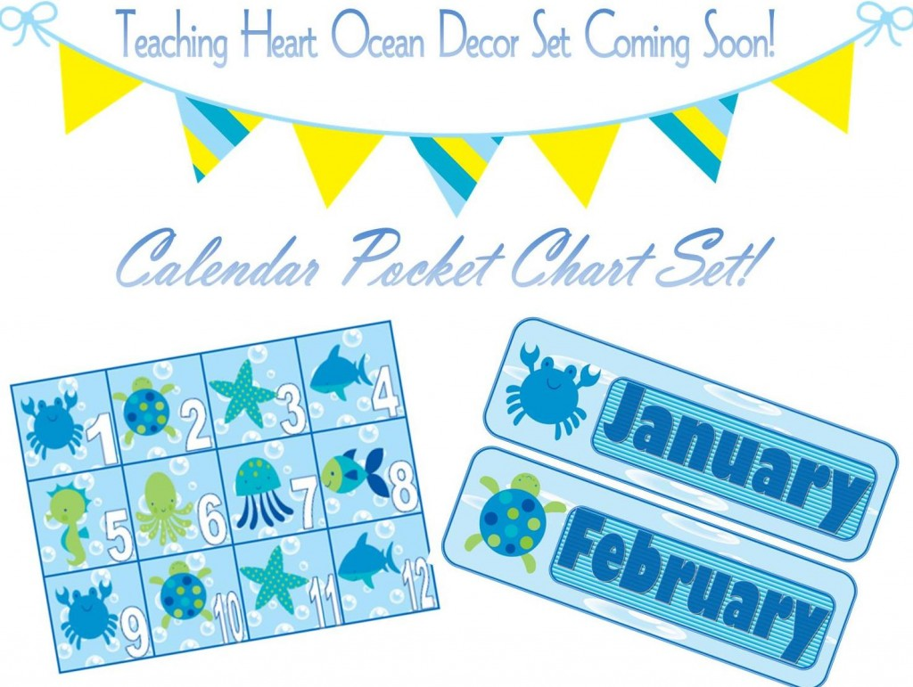 Ocean Classroom Theme Decor Set from Teaching Heart