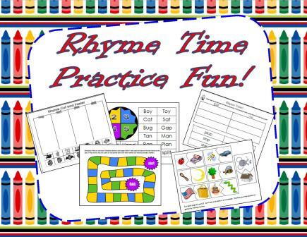 Rhyming Fun and Daily Rhyme Activities