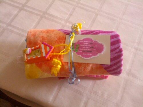 beach towel teacher gift