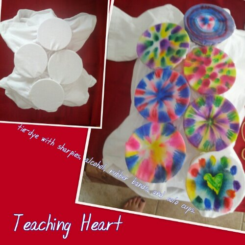 easy no mess tie dye shirts teaching heart