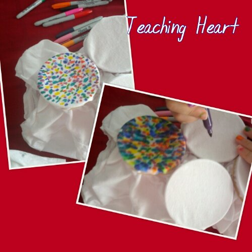 tie-dye with sharpie at teaching heart