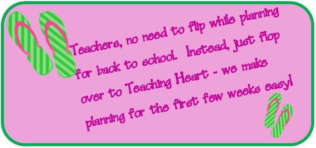 Teaching Heart Back To school Ideas
