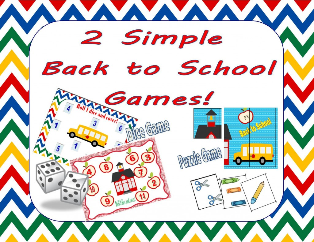 2 easy back to school games