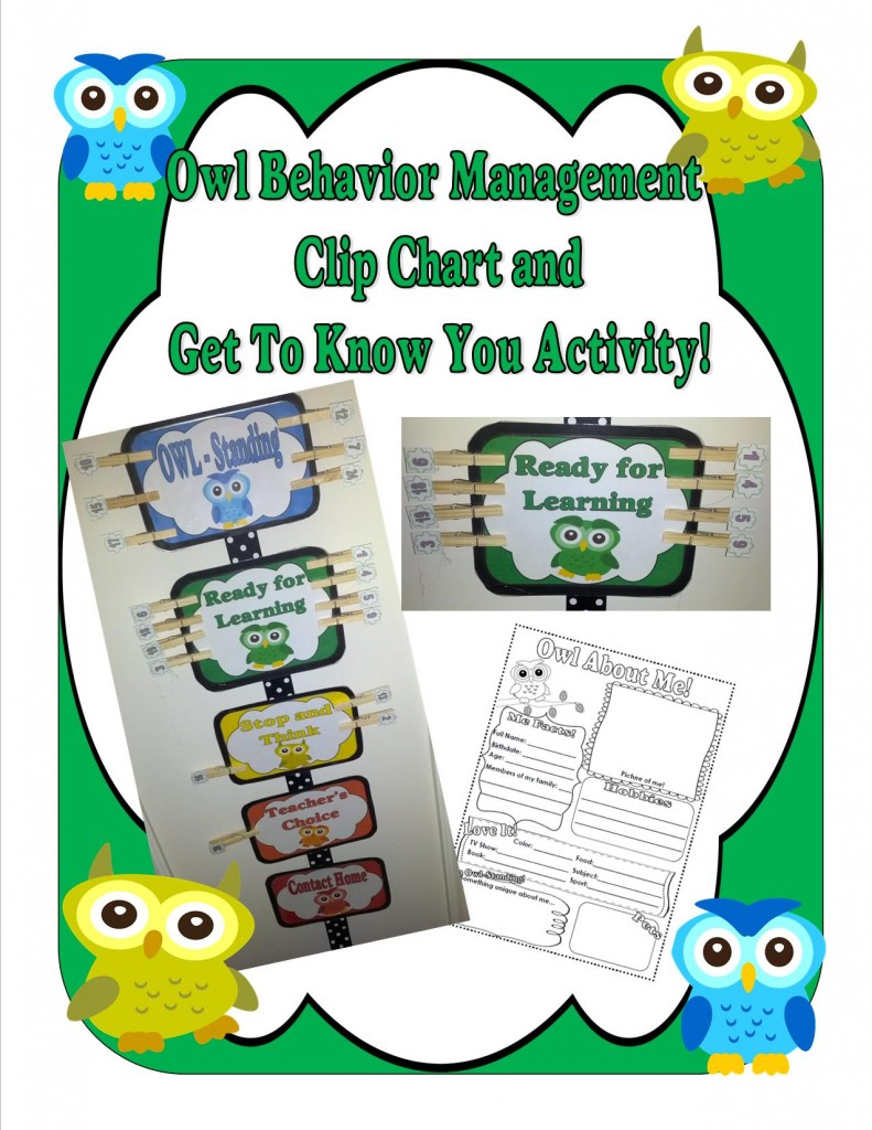 Owl Themed Behavior Management