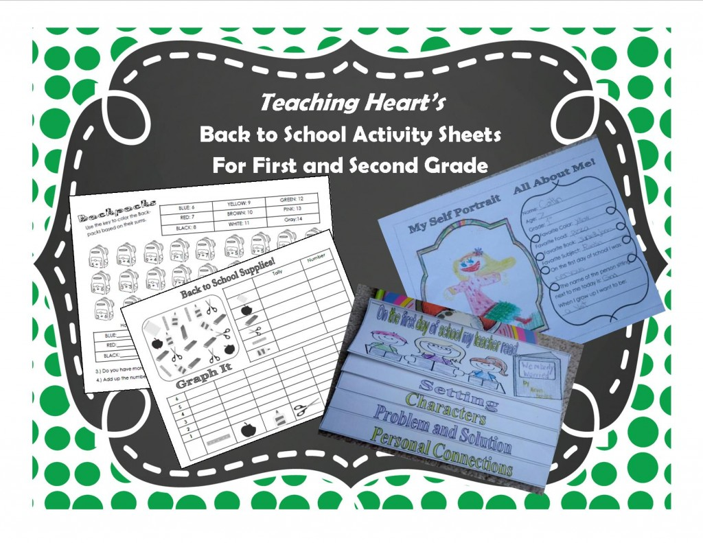Teaching Heart Worksheets and 2 Games For Back To School!