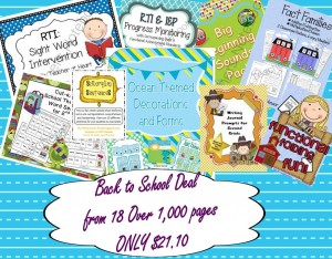 Back to School hands on printables