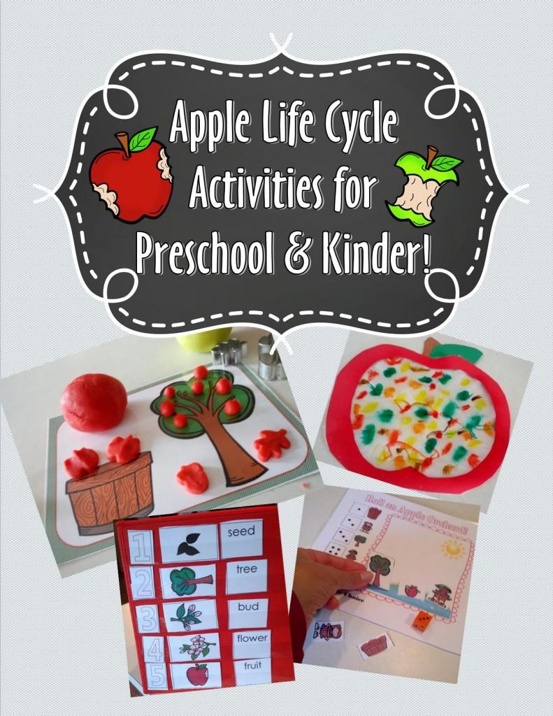 Apple Life Cycle Preschool Packet