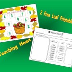 Free Leaf Printables - Game and Leaf Data Sheet