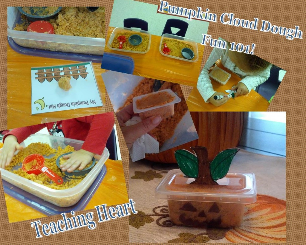 pumpkin cloud dough activities