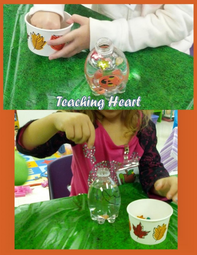 Teaching Heart Pumpkin Sensory Bottle
