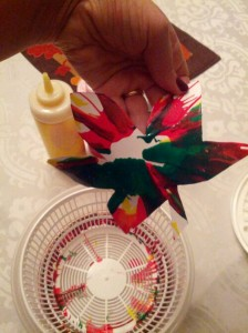 Leaf salad spinner craft