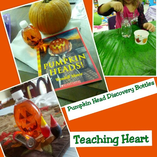 Pumpkin Head Discovery Bottles - Teaching Heart