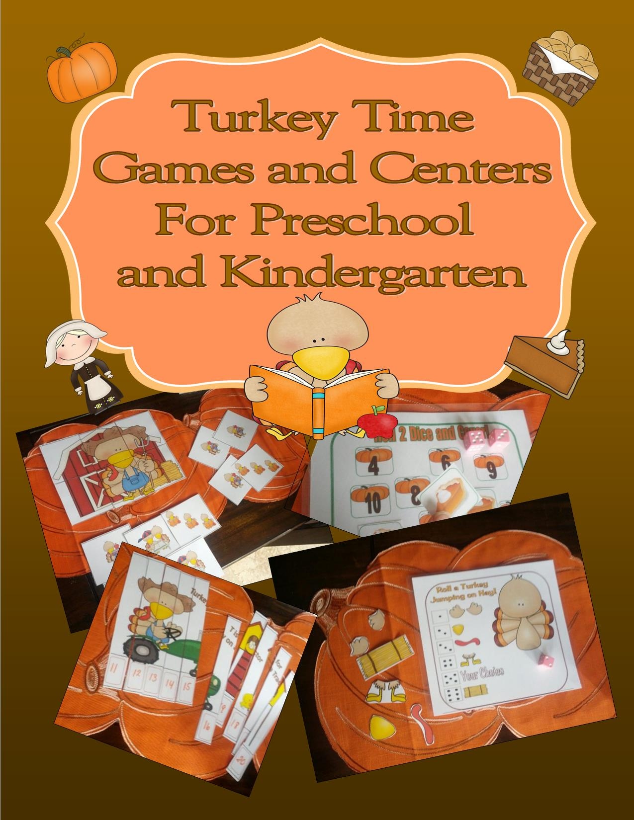 TurkeyTime Games And Centers For Preschool Kindergarten