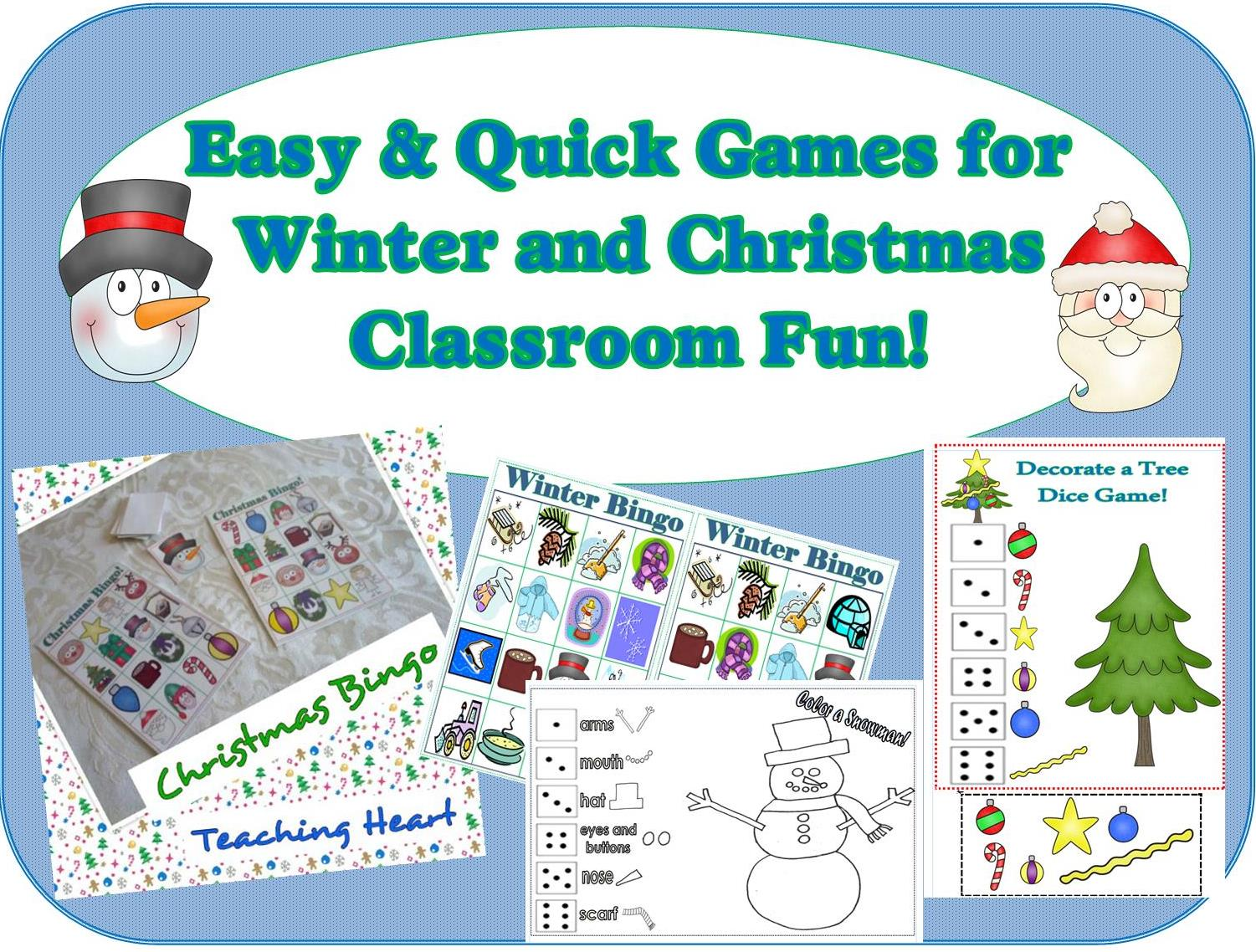 Easy to Print and Play Christmas and Winter Games!!!