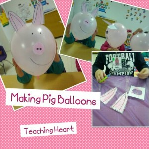 Pig Balloon Craft