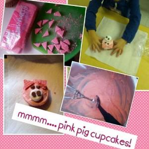 Pink Piggy Cupcakes FArm theme
