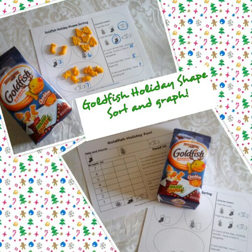 Goldfish Holiday Shapes Graph and Sorting Free Printable