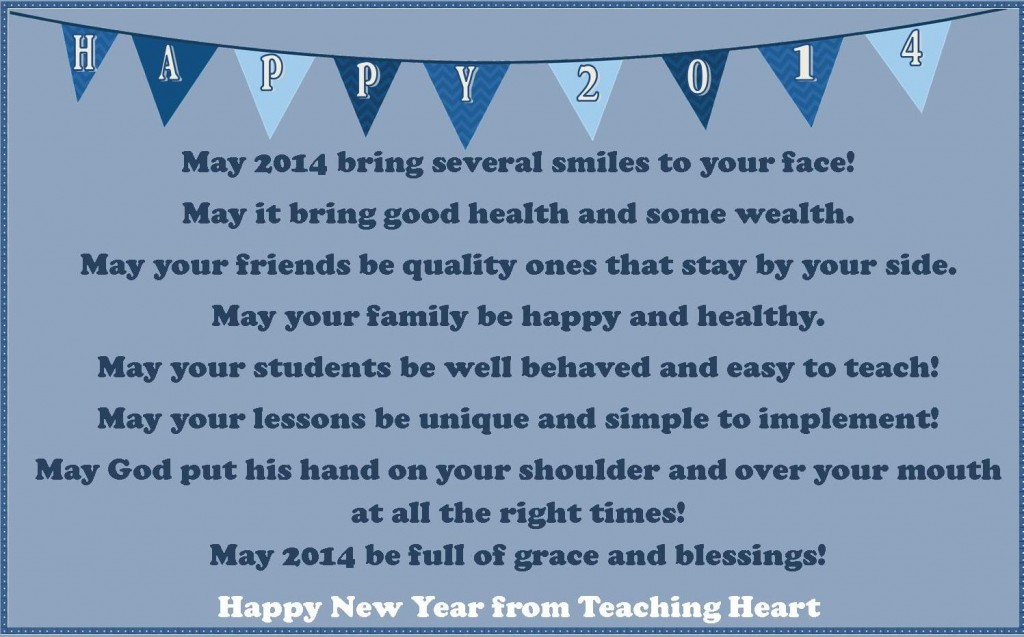 happy new year for teachingheart