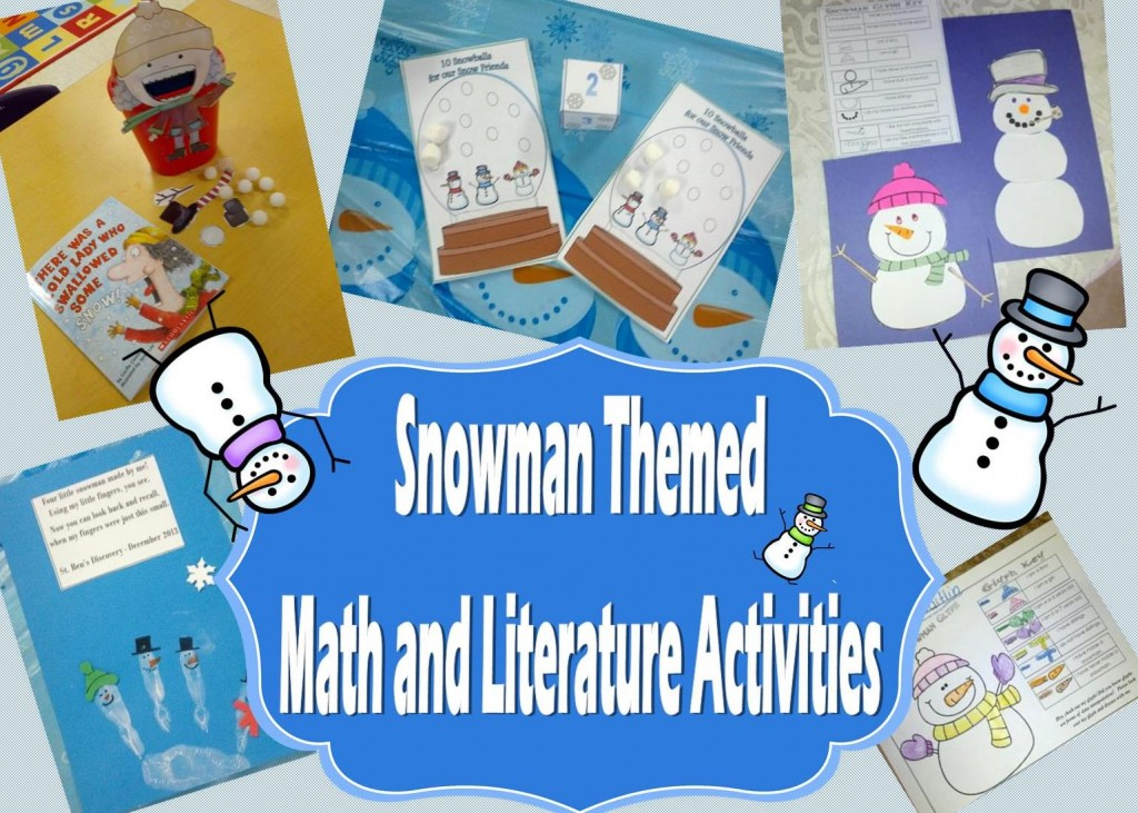 Snowman Themed Math and Literature Activities for Preschool and Kindergarten