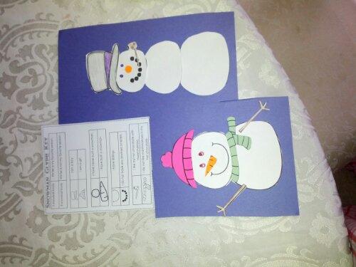 snowman glyph craft