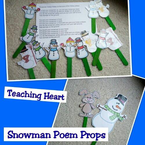 snowman fingerplay