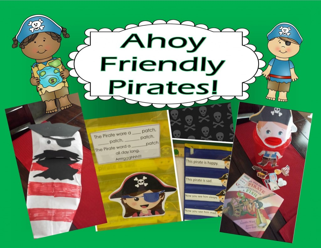 Pirate Themed Activities For Preschool and Kindergarten