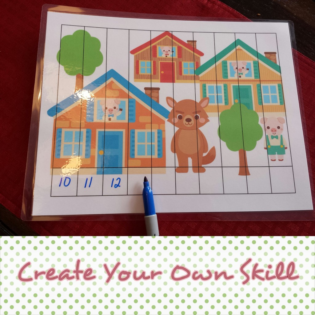 Three Little Pigs Skill Puzzle